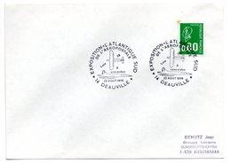 Lettre Premier Jour  /  Expo Aérospatiale Atlantique Sud  / Deauville / 22-8-1976 - 1970-1979