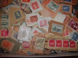 Raf 12 - Milliers Timbres De Belgique Sur Fragment Tous Formats - Majoritaire 1950 Et Alentour - Kisten Für Briefmarken