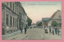 67 - SCHILTIGHEIM - Bischweiler Strasse Mit Post - Voir état - Schiltigheim