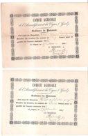 Comice Agricole De L'arrondissement Du Vigan - Quissac - Rivet De Sabatier / Quittances De Paiement - Landbouw