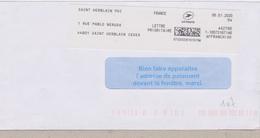 EMA Pitney Bowes Saint Herblain Cedex (Loire Atlantique) Saint Herblain PDC 1 Rue Pablo Néruda N° Cptable 442790 - Marcophilie (Lettres)