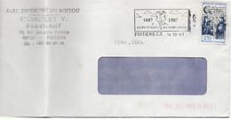 France N° 2500 Y. Et T. Vienne Poitiers CT Flamme Illustrée Du 14/12/1987 Sur Lettre - Marcophilie (Lettres)