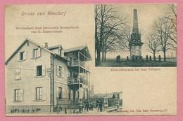 67 - STRASBOURG -  GRUSS Aus NEUDORF - Wirtschaft Zum Deutschen Kronprizen - Polygon Kleberdenkmal - Strasbourg