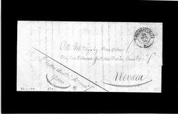 CG20 - Lett. Da Borgo Vercelli X Novara 26/4/1850 - Doppio Cerchio Sardo Nero + Bollo Amm.vo - Italia