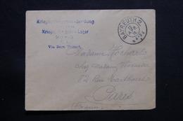 ALLEMAGNE - Enveloppe Du Camp De Prisonniers De Guerre De Bayreuth Pour Paris Via Bern En 1916 - L 55454 - Allemagne
