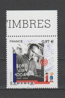 FRANCE / 2020 / Y&T N° 5383 ** : Boris Vian X 1 BdF Haut - Neufs