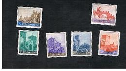SAN MARINO - UNIF. 711.716 - 1966  VEDUTE:  SERIE COMPLETA DI 6       - MINT** - Unused Stamps