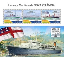 GUINEA BISSAU 2020 - New Zealand Maritime Heritage. Official Issue [GB200213a] - Ships