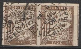 Colonies  Emissions Générales Taxe N° 19 En Paire Oblitéré En Cochinchine (F21) - Postage Due