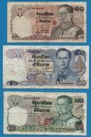 LOT THAILAND 3 X BILLETS BANKNOTES - Monnaies & Billets