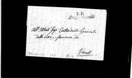 CG20 - Lett. Da Borgo Vercelli X Vercelli 26/4/1850- Bollo Corsivo Nero Con P.P. - Italia