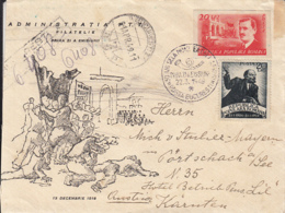 85623- VICTORY DAY, END OF WW2 ANNIVERSARY, REGISTERED COVER FDC, 1949, ROMANIA - FDC