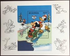 Antigua Redonda 1984 Disney Christmas Minisheet MNH - Antigua En Barbuda (1981-...)