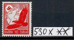 Deutsches Reich Mi-Nr.: 530 X Flugpost 1934 Sauber Postfrischer Wert (Michelwert: 10 EURO) - Allemagne