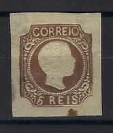 Portugal - N° 9 * - Dans L'état Petite Tâche En Bas - 1855-1858 : D.Pedro V