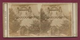 100320B - PHOTO STEREO BERTRAIND Paris - BORDS DU RHIN ALLEMAGNE BADE WURTEMBERG HEIDELBERG Porte D'entrée Du Château - Photos Stéréoscopiques