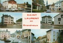 Saint Laurent En Grandvaux Multivues Voitures Anciennes Citroen DS, 2cv, Ami6, Renault R16, - Autres Communes