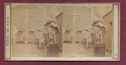 100320B - PHOTO STEREO BERTRAIND Paris - BORDS DU RHIN 1865 BELGIQUE ANVERS Calvaire Béguine - Photos Stéréoscopiques