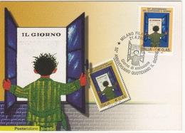 Italia 2008 50° Anniversario Quotidiano IL GIORNO Annullo FDC Cartolina Filatelica - Fabbriche E Imprese