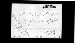 CG20 - Lett. Da Borgo San Dakmazzo X Cuneo 14/2/1846 - Bollo Stampatello Diritto Nero Senza Data - Italia