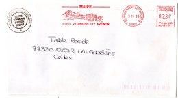 GARD - Dépt N° 30 = VILLENEUVE-lès-AVIGNON 1993 = FLAMME ROUGE EMA Thème CHATEAU =  MAIRIE - Vini E Alcolici