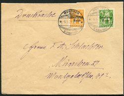 DT.REICH 1921, Nr. 119/20, BRIEFVORDERSEITE, STPL-SST MÜNCHEN INT. BRIEFM, TOPP! - Allemagne