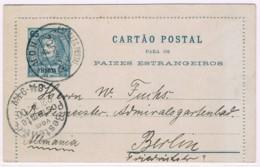 Horta, 1900, Cartão Postal Horta-Berlin - Horta