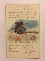 A118- WW1. CARTE PATRIOTIQUE. CAMPAGNE 1914 – 1915. TEXTE SUR NOËL. - Guerre 1914-18