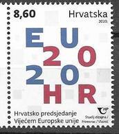 CROATIA, 2020, MNH , E.U. , CROATIAN PRESIDENCY OF THE COUNCIL OF THE EUROPEAN UNION,1v - Europese Instellingen