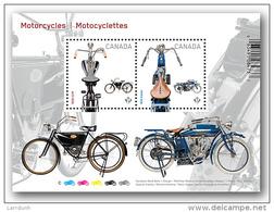 Canada Motorcycle CCM Indian Souvenir Sheet Block MNH 2013 A04s - Full Sheets & Multiples