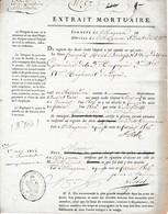 1806 MAYENCE - EXTRAIT MORTUAIRE De François BOURGEOIS Grenadier De La 3° Cie 3° Bat 51ème Régiment De Ligne - Documents Historiques