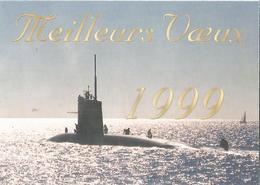 """Carte De Voeux S N A """"CASABIANCA"""" - Sous-marins"""