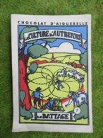 1 Image Très Ancienne N° 7 Le Battage  Images De La Chocolaterie D'Aiguebelle (Drome) - Alte Papiere