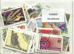 Lot 100 Timbres Du Congo - Congo - Kinshasa