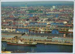 C3565/ Hamburg  Hafen Schiffe Ellerholzhafen Luftaufnahme 1966 24 X 18 Cm  - Altri