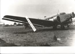 PHOTO AVION JUNKER JU 52   17X10CM - Aviation