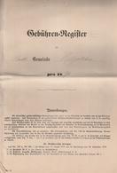 Hist. Dokument / 1894 / Gebuehren-Register Ex Gemeinde Hiltpoltstein, Ca. 20 Seiten (AJ67-80) - Documentos Históricos