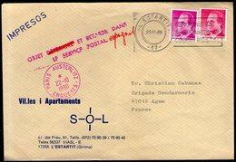 PARIS AUSTERLITZ - ENQUETES Avec Griffe Spéciale Sur LSC D'Espagne De 1990 ! - Poststempel (Briefe)