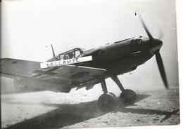 PHOTO AVION MESSERSCHMITT BF 109F 1/JG 27 EN LIBYE EN 1941 ARCHIVE ECPA    17X12CM - Aviation