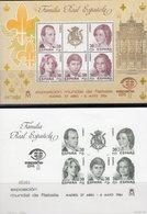Madrid 1984 EXFILNA Spanien Block 27+SD ** 85€ König Juan Carlos Mit Familie S/s Blocs Philatelics Sheets Bf Espana - Fogli Ricordo