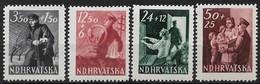 Croatia 1945. Scott #B77-B80 (M) Postman, Repairman, Switchboard Operator ** Complete Set - Croatia