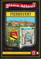 CPSM  04 PIERREVERT  BLASON AUTOCOLLANT - Francia
