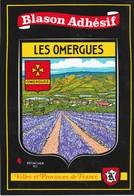 CPSM  04 LES OMERGUES BLASON AUTOCOLLANT - Francia