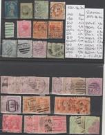 TIMBRE DE VICTORIA  OBLITEREES 1861-73-84-86- Nr VOIR SUR PAPIER AVEC TIMBRES  COTE 92.05   € - 1850-1912 Victoria