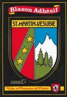 CPSM  06 SAINT MARTIN DE VESUBIE BLASON AUTOCOLLANT - Saint-Martin-Vésubie