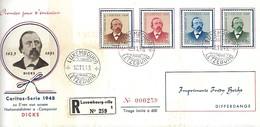 Luxembourg  -  FDC  -  18.11.1943  -  Caritas-Série 1948 Zu E'ren Vun Onsem Nationaldichter A Componist - FDC