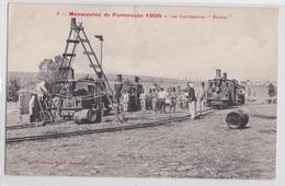 """Manoeuvres De Forteresse 1906 - Les Locomotives """"Péchot"""" Train Locomotive Militaire - Trenes"""