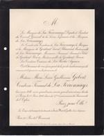 PARIS SAINT-MARS-LA-JAILLE Marie GIBERT Comtesse Fernand De La FERRONNAYS 87 Ans 1906 Famille De GONTAUT BIRON - Décès