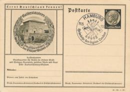 Deutsches Reich - 1939 - 6Pf Hindenburg - Postcard Kaiserslautern Cancel Hamburg Legion Condor - No Address - Ganzsachen