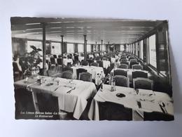 """CPSM - Lac Léman Bateau Salon """"La Suisse"""" Le Restaurant - France"""